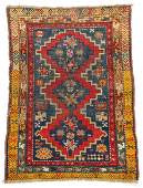 Antique Caucasian Rug: 3' x 3'11''