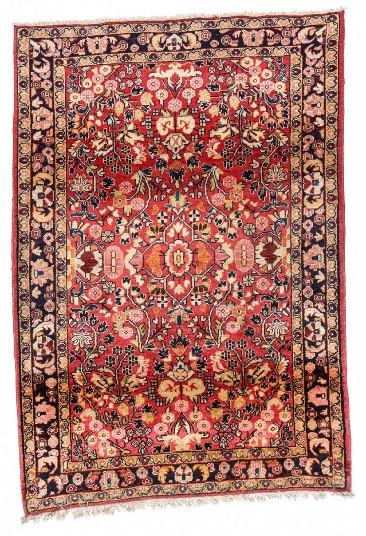 Semi-Antique Sarouk Rug: 3'6'' x 5'1''