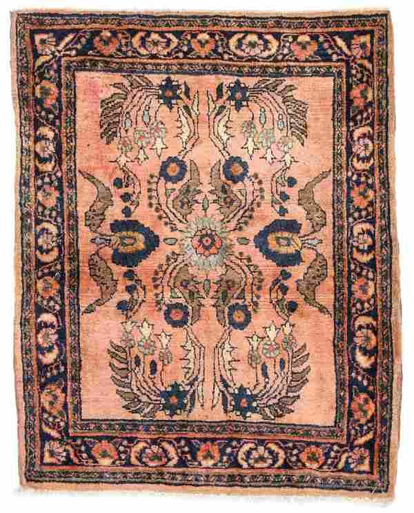 Semi-Antique Sarouk Rug: 2'3'' x 2'10''