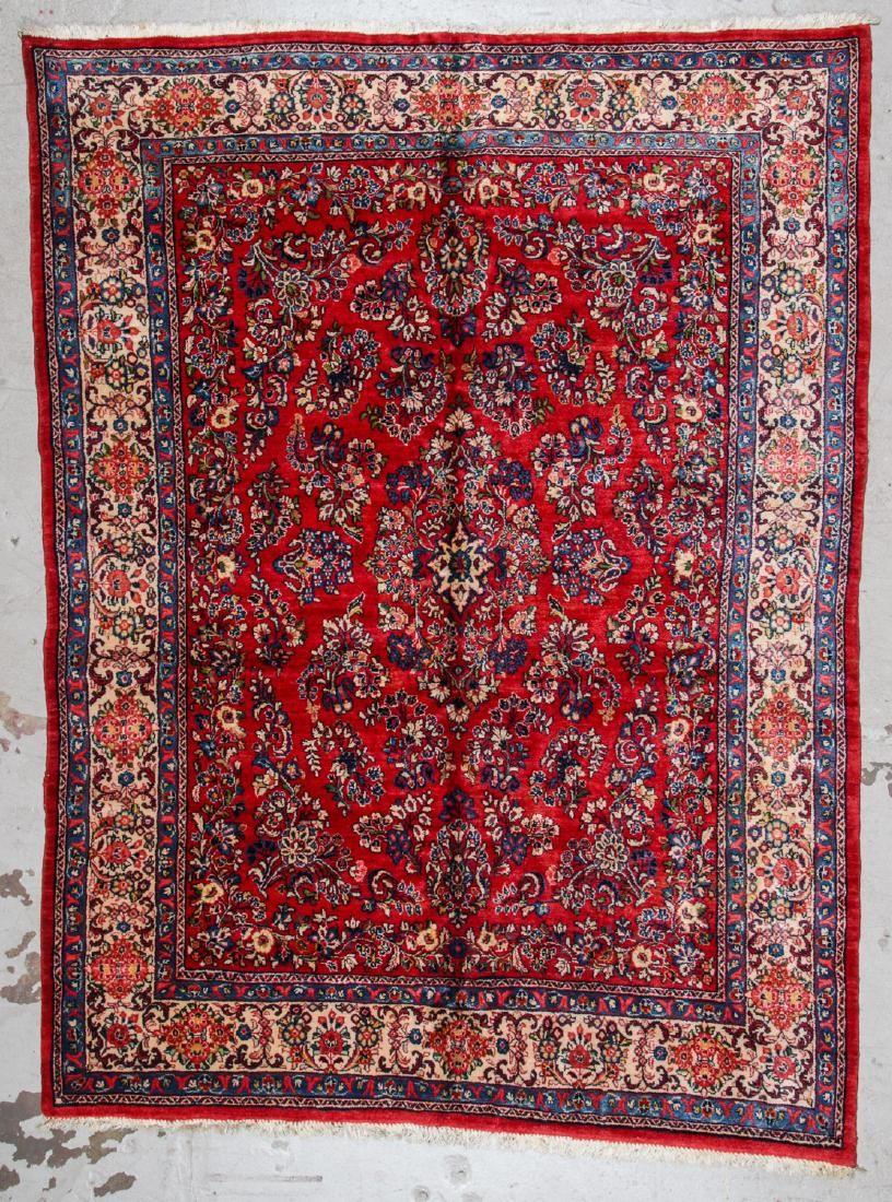 Semi-Antique Sarouk Rug: 6'10'' x 8'11''
