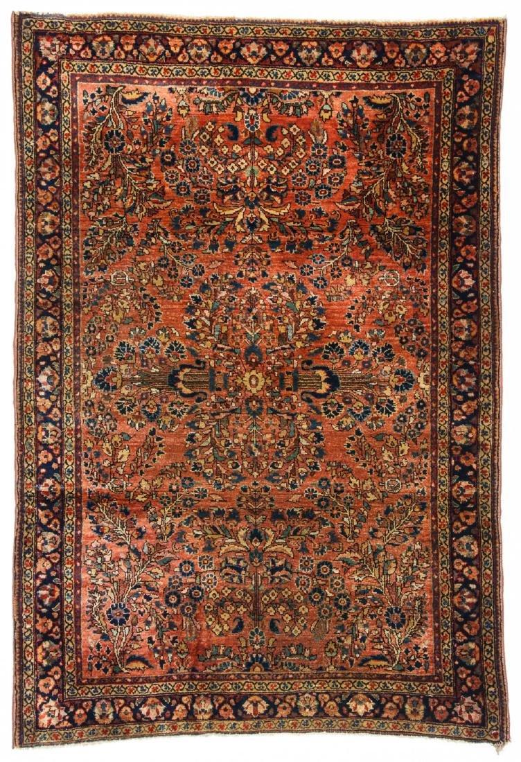 Antique Sarouk Rug: 3'5'' x 4'11''