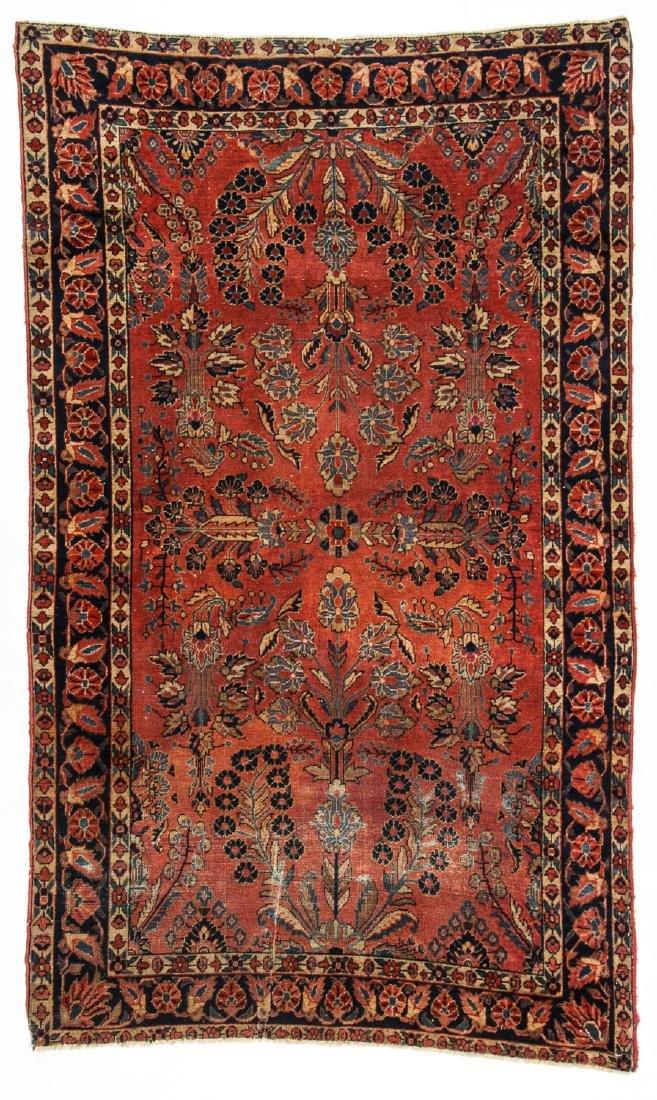 Antique Sarouk Rug: 4' x 6'7''