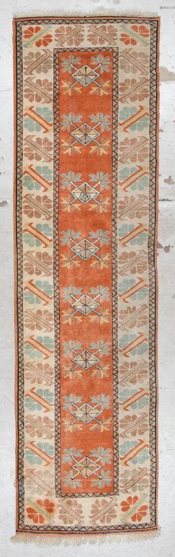 Vintage Turkish Rug: 2'9'' x 9'9''