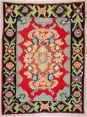 SemiAntique Bessarabian Kilim 87 x 115