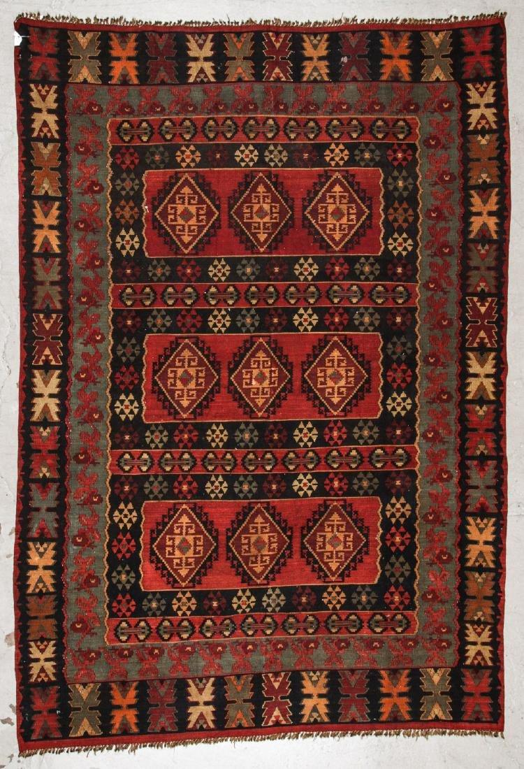 Vintage Turkish Style Kilim: 6'9'' x 9'10''