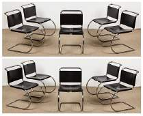 10 Vintage Knoll Dining Chairs, Mies van der Rohe