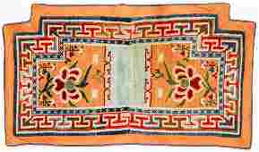 Antique Sino Tibetan Saddle Rug: 2'5'' x 4'1''