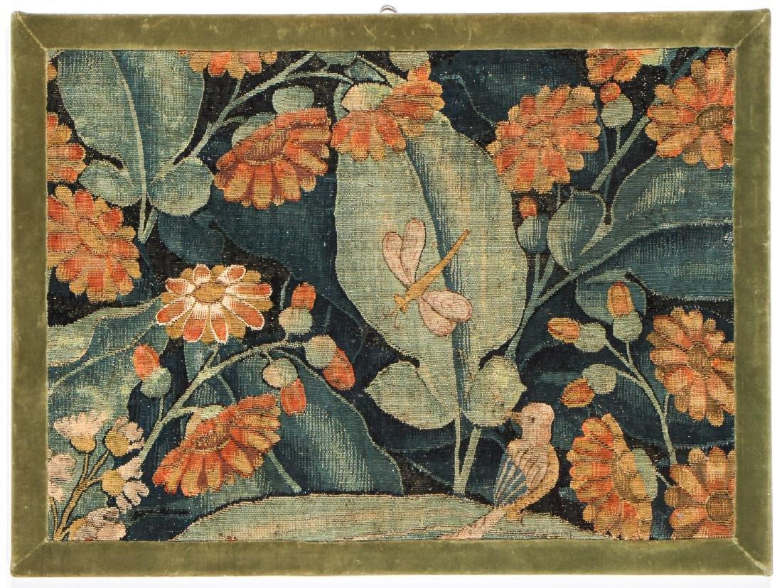 16/17th C. Flemish Tapestry Fragment, Framed