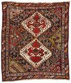 Antique Gashgai Rug, Persia: 4'8'' x 5'6''