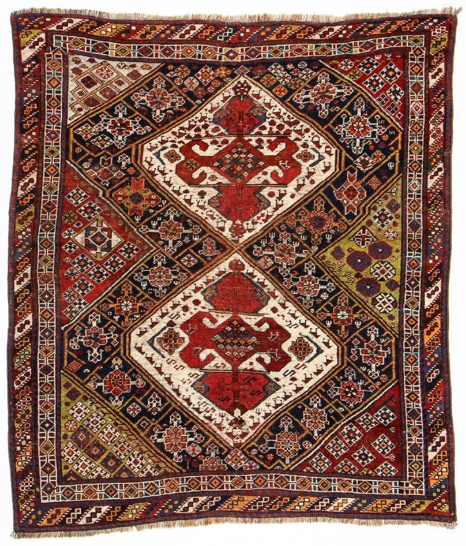 Antique Gashgai Rug, Persia: 4'8'' x 5'6''