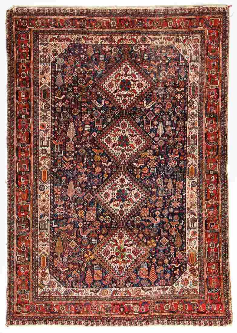 Antique Gashgai Rug, Persia: 4'5'' x 6'4''