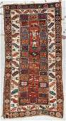 Antique Caucasian Kurd Rug: 4'0'' x 7'4''