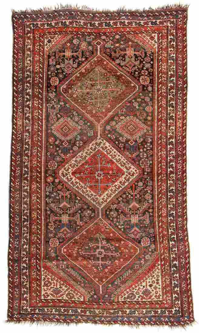 Antique Gashgai Rug, Persia: 4'8'' x 7'11''