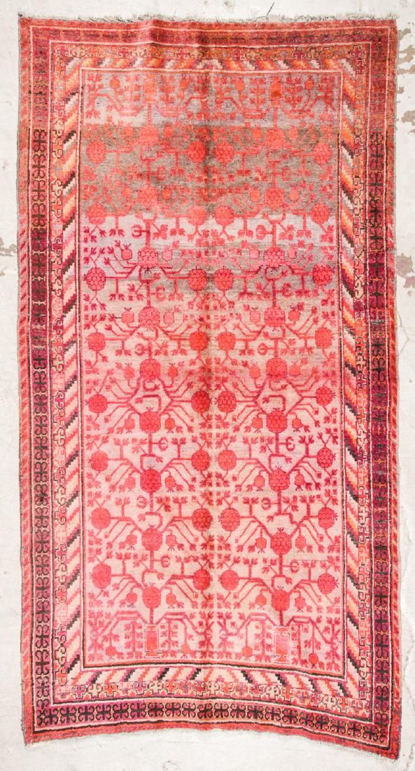 Antique Khotan Rug, China: 5'9'' x 11'