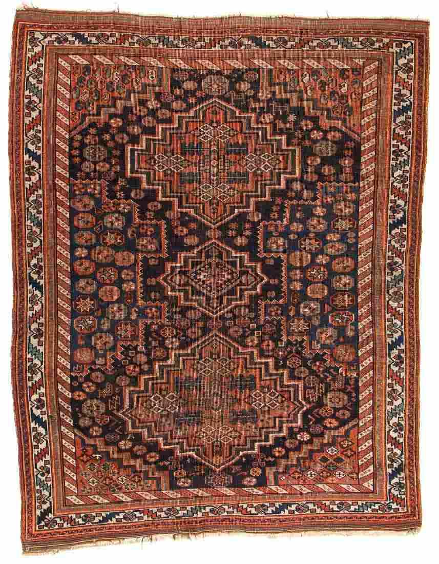Antique Afshar Rug, Persia: 4'11'' x 6'1''