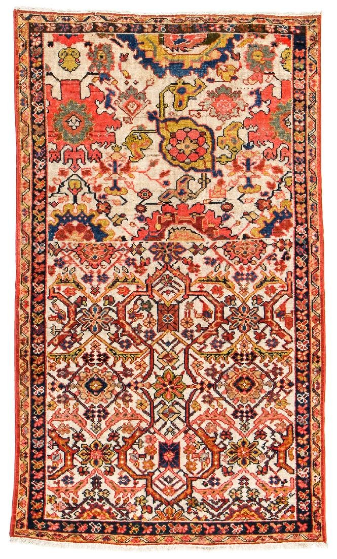 Antique Malayer Wagireh Rug, Persia: 3'8'' x 6'2''