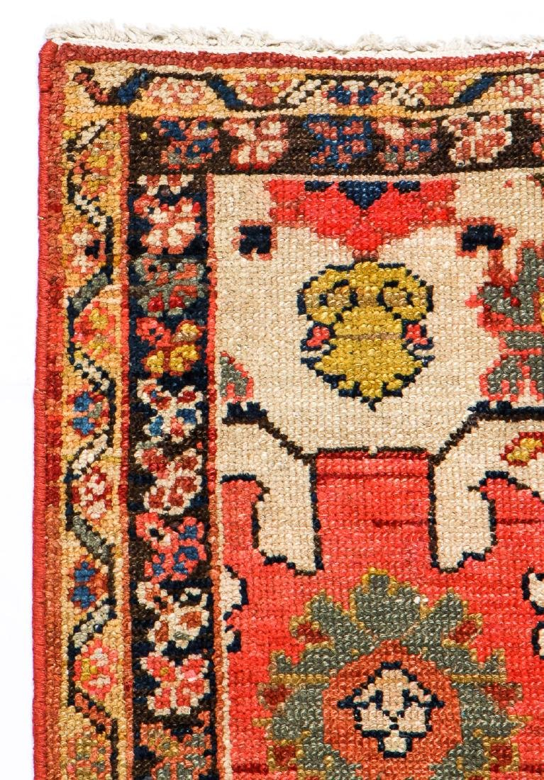 Antique Malayer Wagireh Rug, Persia: 3'8'' x 6'2'' - 3