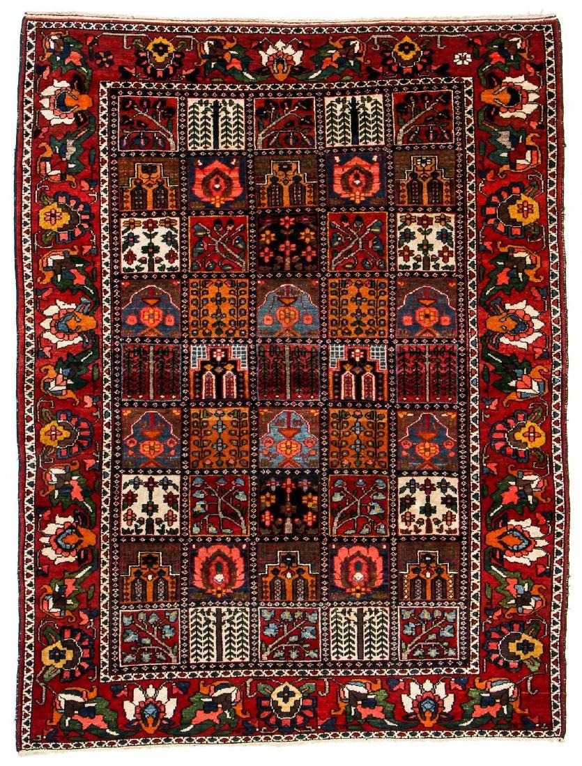 Fine Antique Bakhtiar Garden Rug, Persia: 5'1'' x 6'8