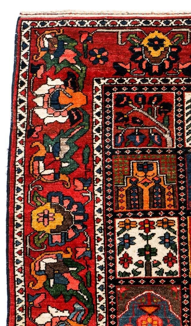 Fine Antique Bakhtiar Garden Rug, Persia: 5'1'' x 6'8 - 3