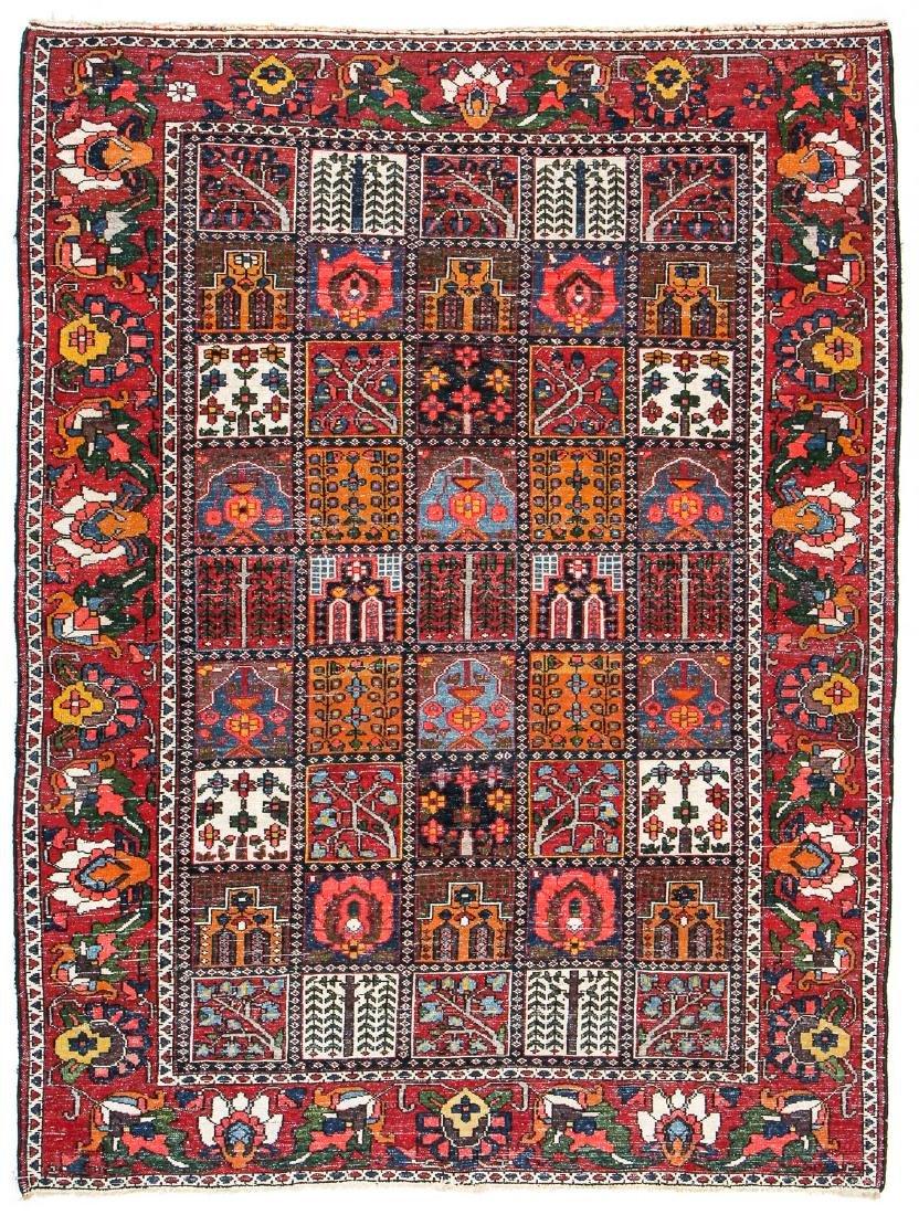 Fine Antique Bakhtiar Garden Rug, Persia: 5'1'' x 6'8 - 7