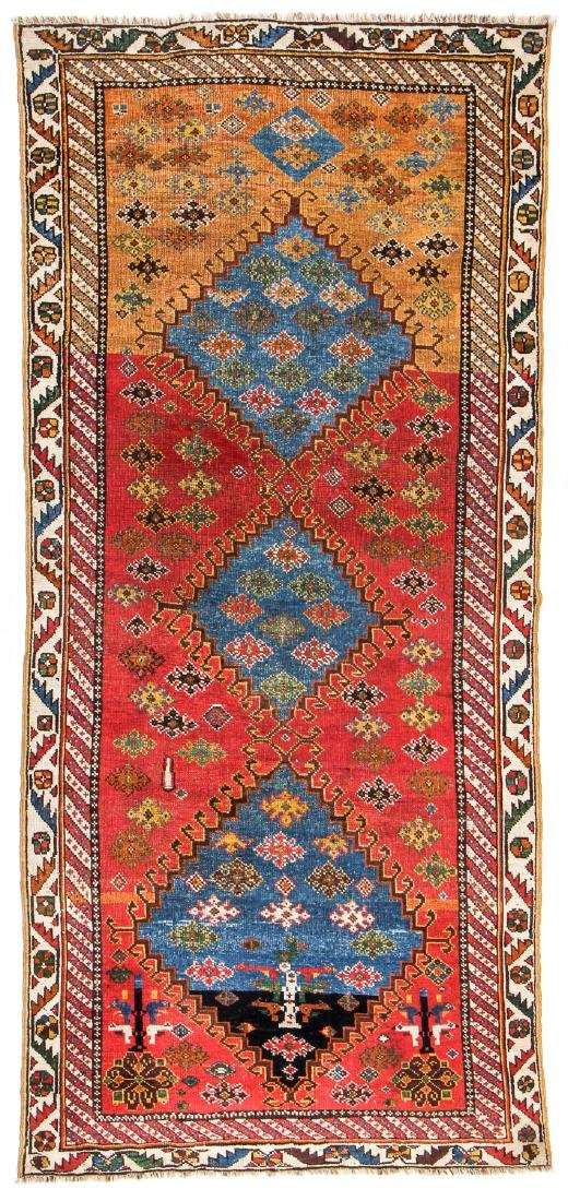 Antique West Persian Kurd Rug: 3'4'' x 7'3''