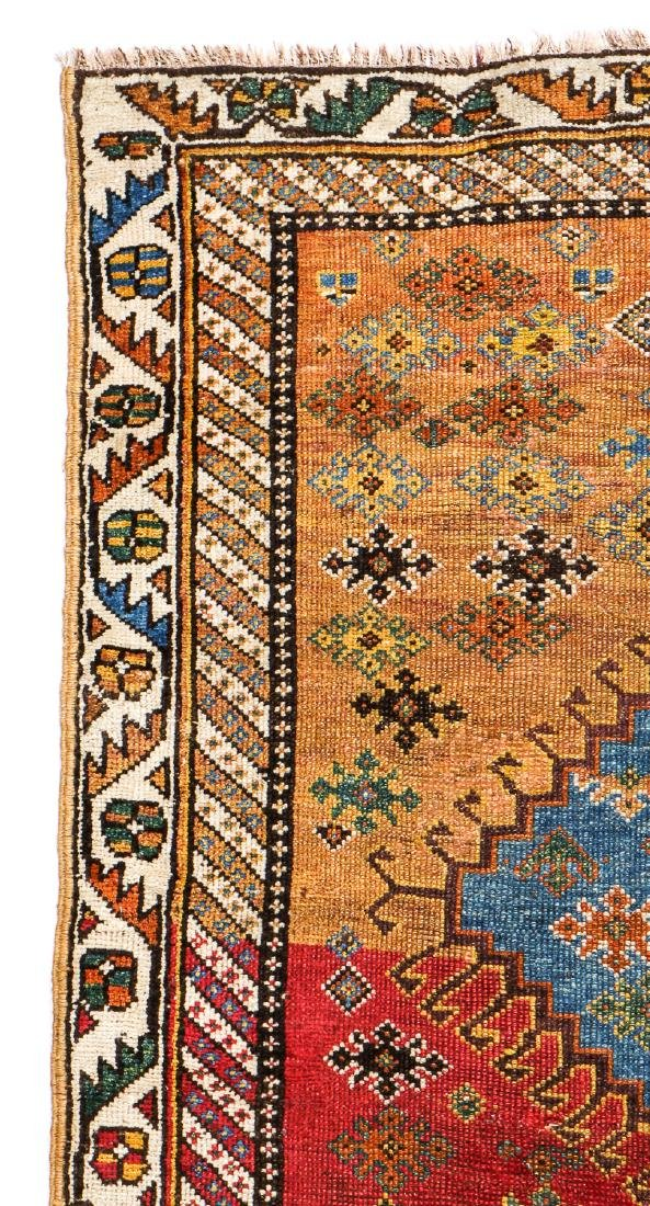 Antique West Persian Kurd Rug: 3'4'' x 7'3'' - 3