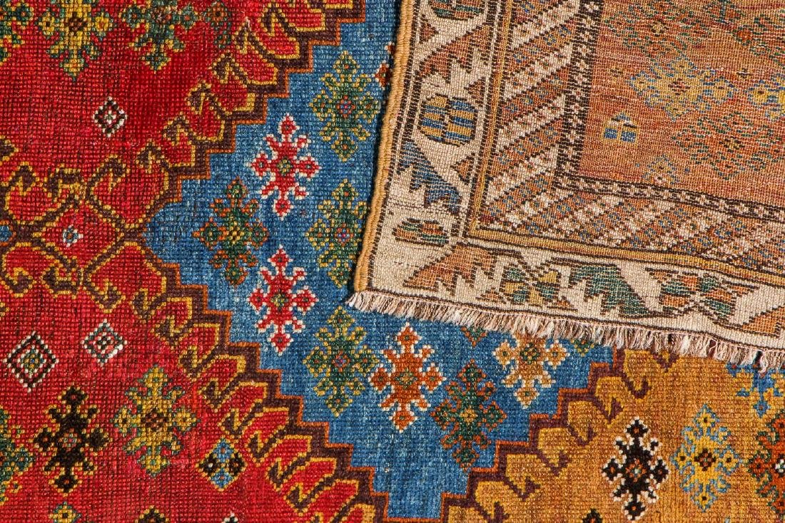 Antique West Persian Kurd Rug: 3'4'' x 7'3'' - 4