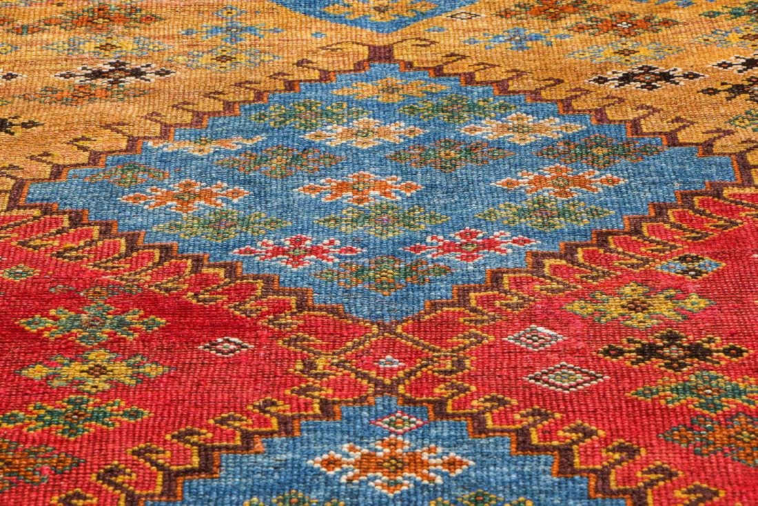 Antique West Persian Kurd Rug: 3'4'' x 7'3'' - 6