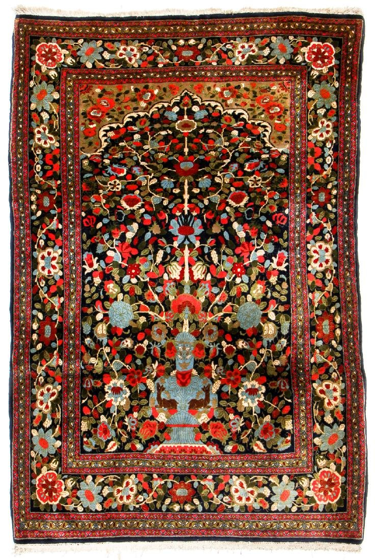 "Semi-Antique Sarouk Prayer Rug, Persia: 4'5"" x 6'9"""