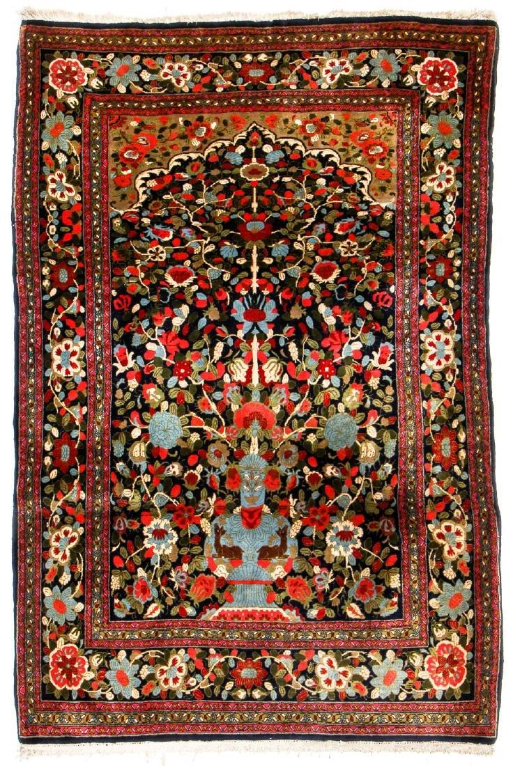 """Semi-Antique Sarouk Prayer Rug, Persia: 4'5"""" x 6'9"""""""