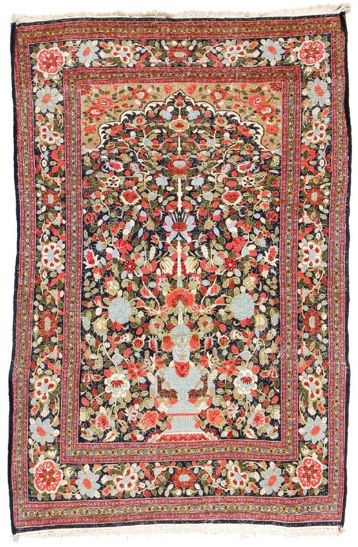 """Semi-Antique Sarouk Prayer Rug, Persia: 4'5"""" x 6'9"""" - 7"""