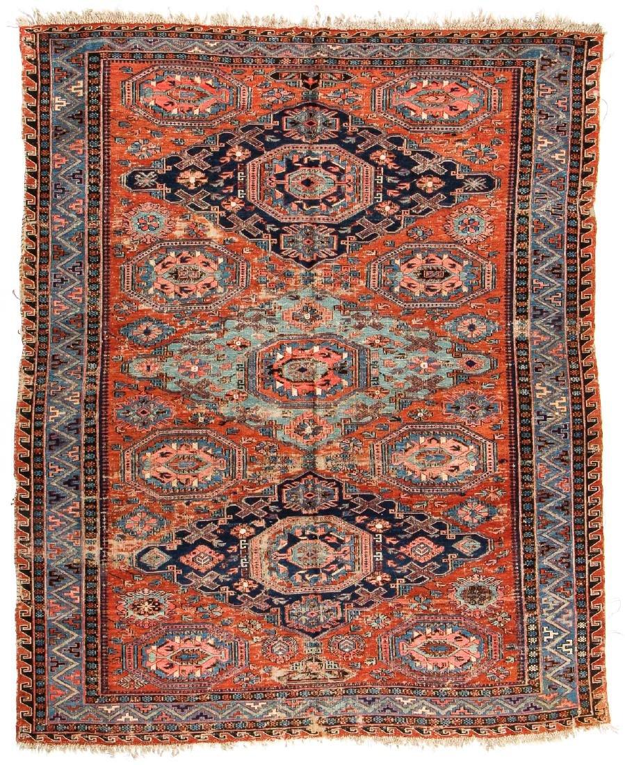 Antique Sumak Rug, Caucasus: 5'3'' x 6'7''