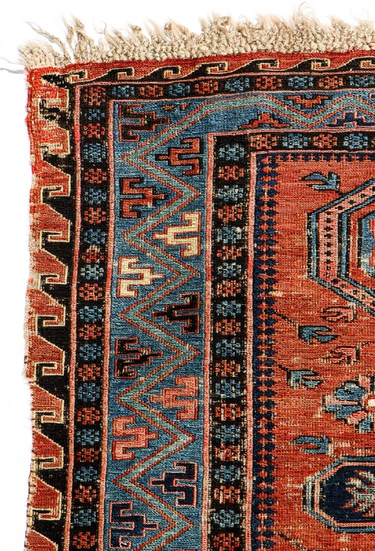 Antique Sumak Rug, Caucasus: 5'3'' x 6'7'' - 3
