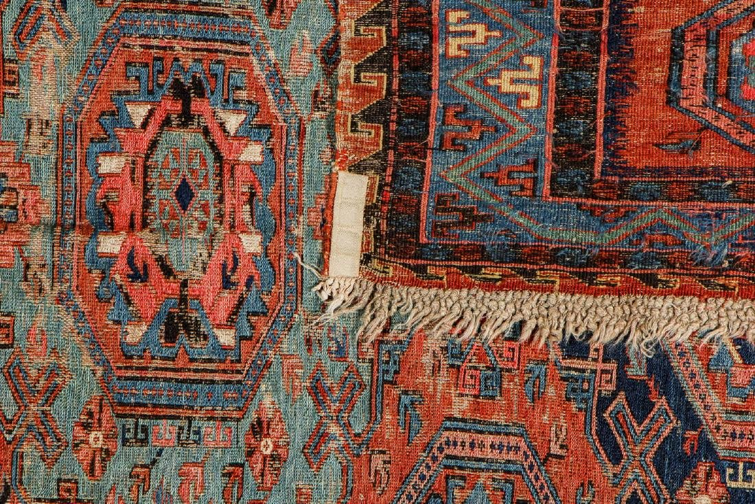 Antique Sumak Rug, Caucasus: 5'3'' x 6'7'' - 4