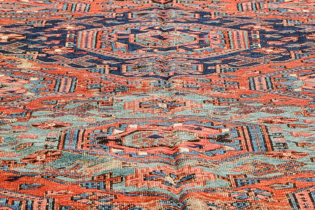 Antique Sumak Rug, Caucasus: 5'3'' x 6'7'' - 6
