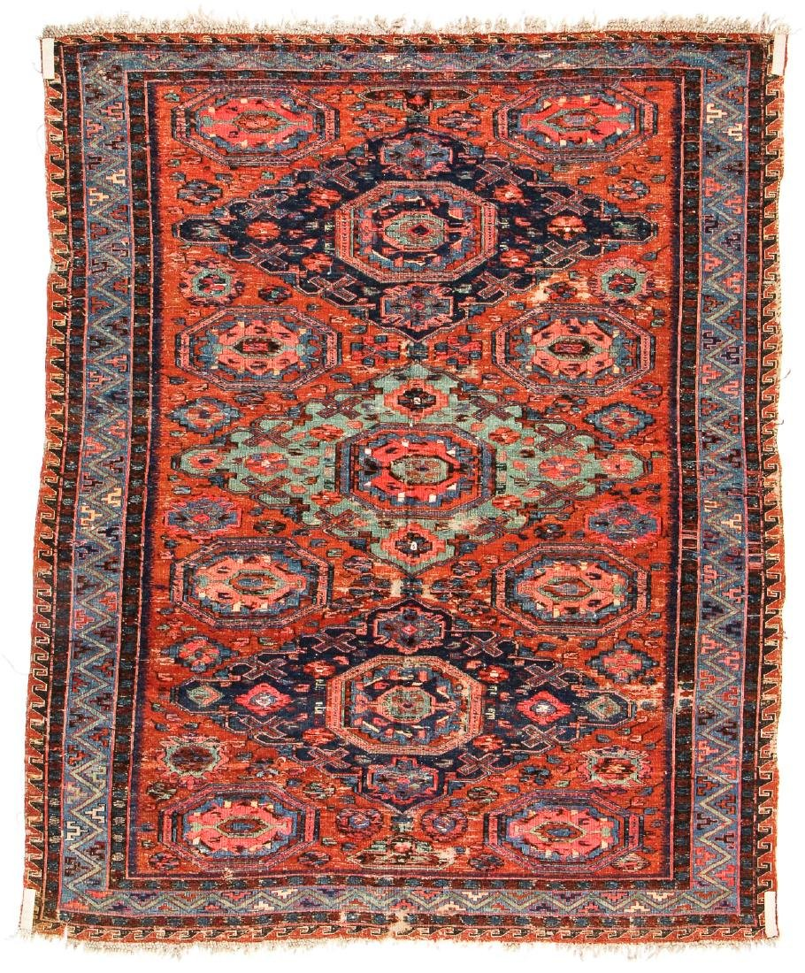 Antique Sumak Rug, Caucasus: 5'3'' x 6'7'' - 7