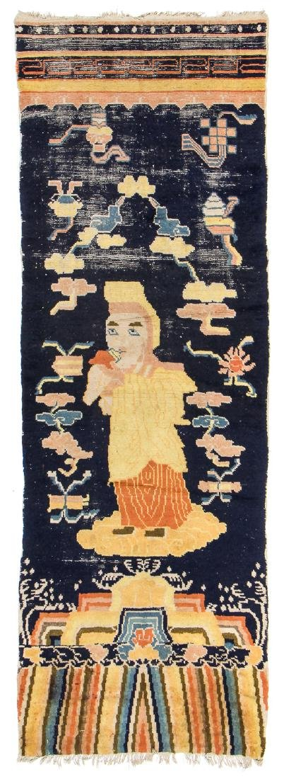Antique Ningxia Buddhist Temple Rug, China