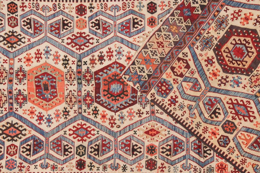 Antique Turkish Kilim: 3'9'' x 10'7'' - 4