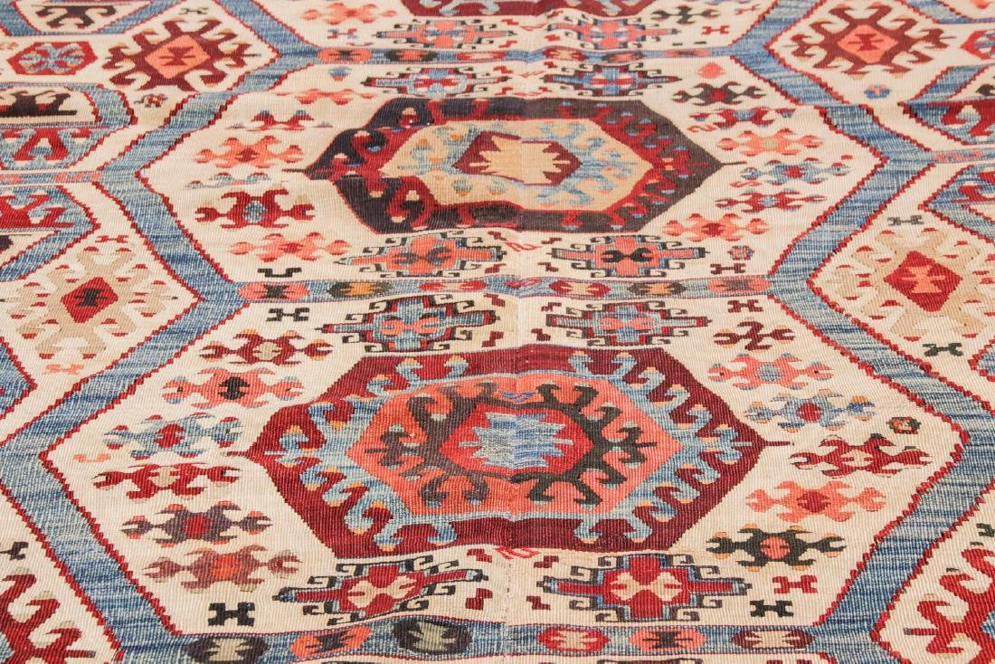 Antique Turkish Kilim: 3'9'' x 10'7'' - 6