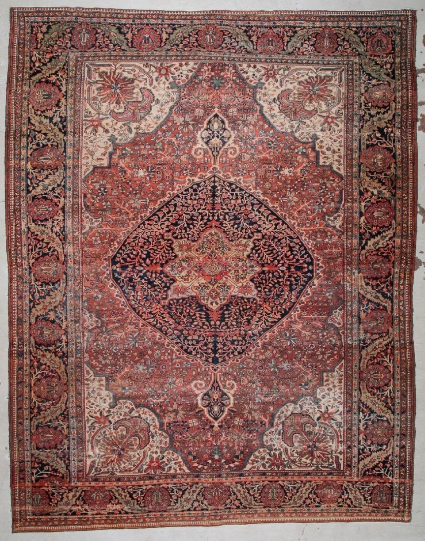 Antique Ferahan Sarouk Rug: 10'5'' x 13'2'' (318 x 401