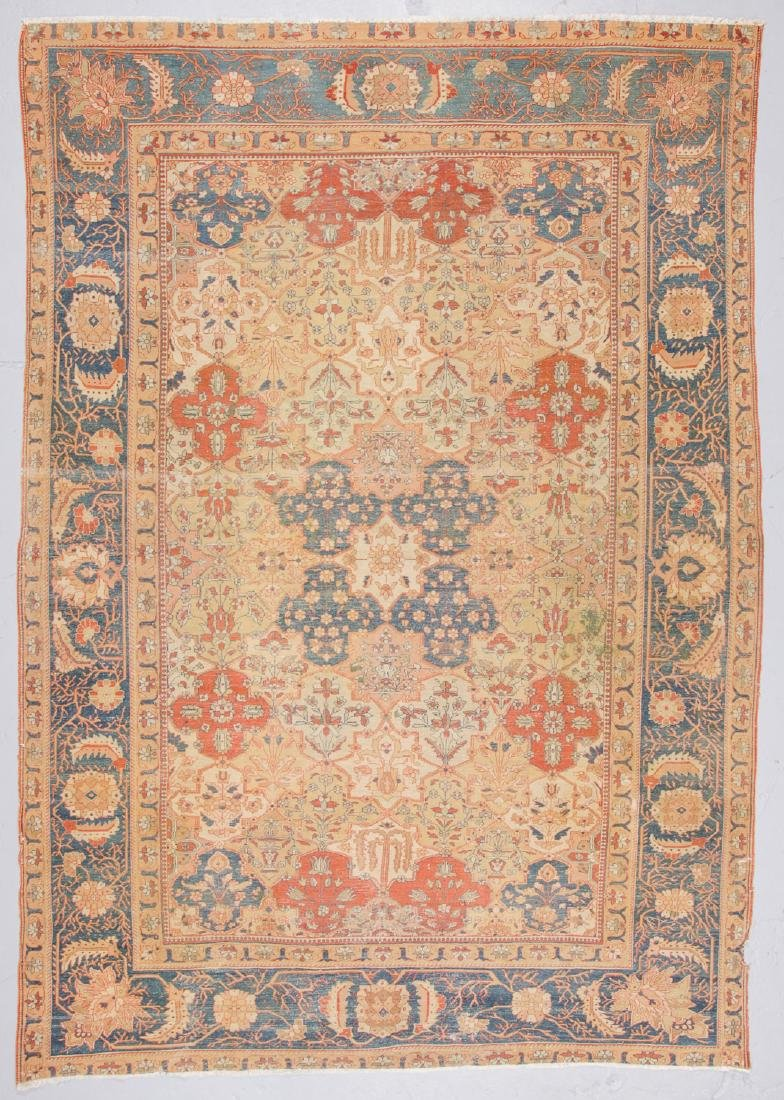 Antique Tabriz Rug, Persia: 7'2'' x 10'3'' - 7
