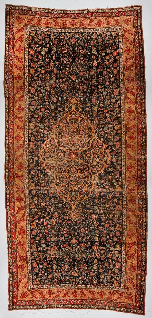 19th C. Palace-Size Bidjar Rug: 13'3'' x 28'4''