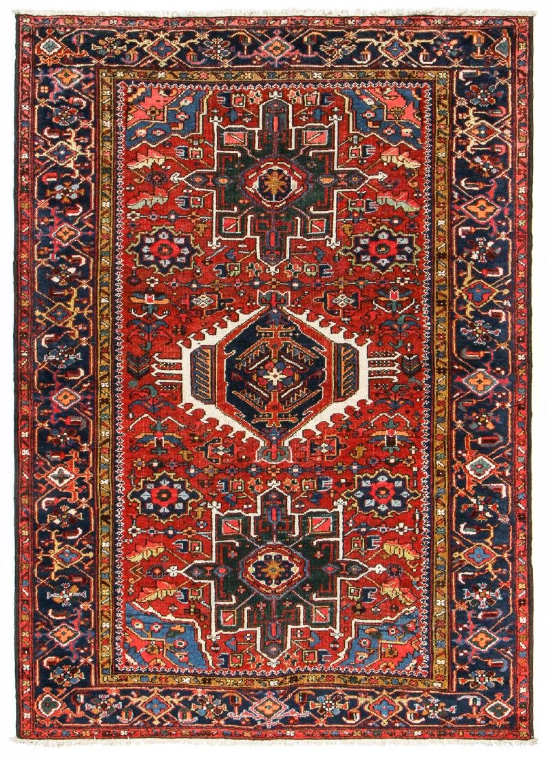 Antique Karadja Rug, Persia: 4'8'' x 6'7''