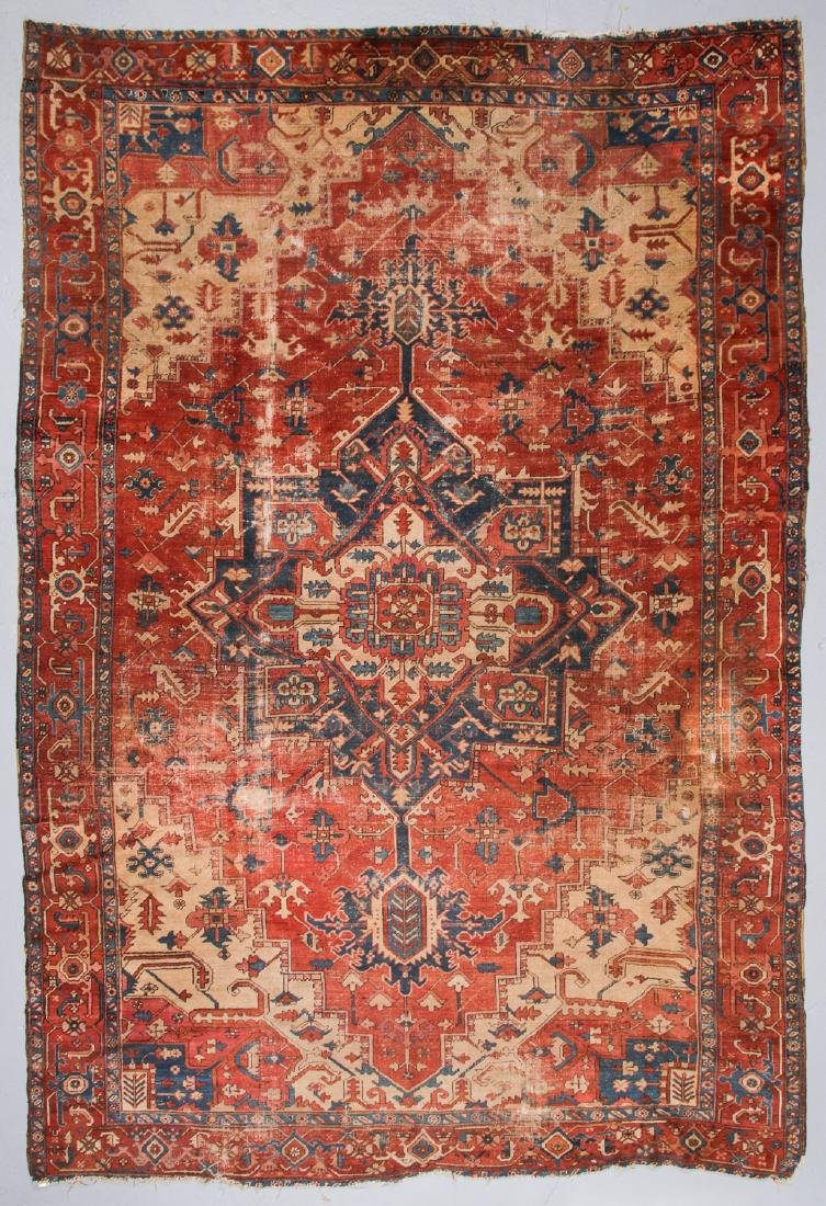 Antique Serapi Rug, Persia: 9'3'' x 13'11''