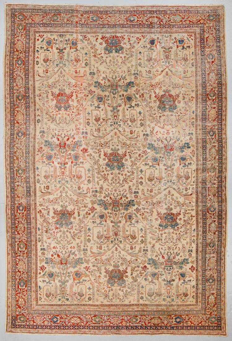 Antique Mansion-Size Sultanabad Rug: 11'7'' x 17'2''