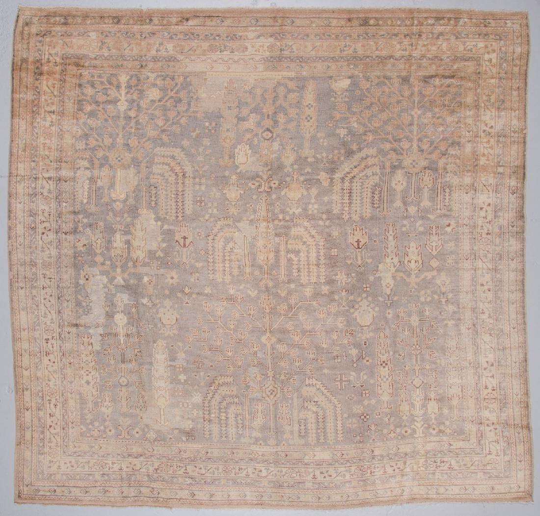 Antique Oushak Rug, Turkey: 11' x 10'8''