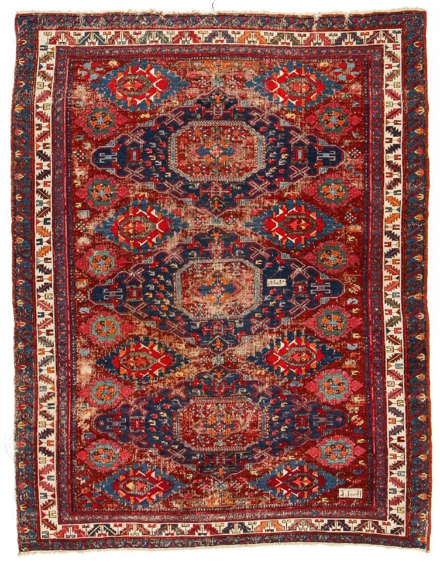 Antique Sumak Rug, Caucasus: 5'3'' x 6'8''