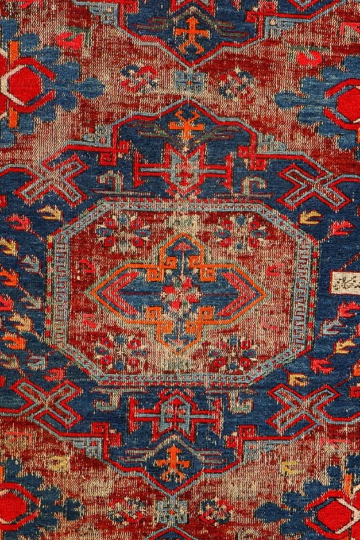 Antique Sumak Rug, Caucasus: 5'3'' x 6'8'' - 2