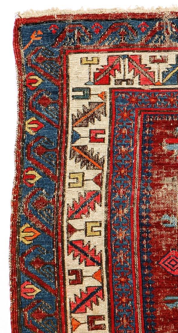 Antique Sumak Rug, Caucasus: 5'3'' x 6'8'' - 3