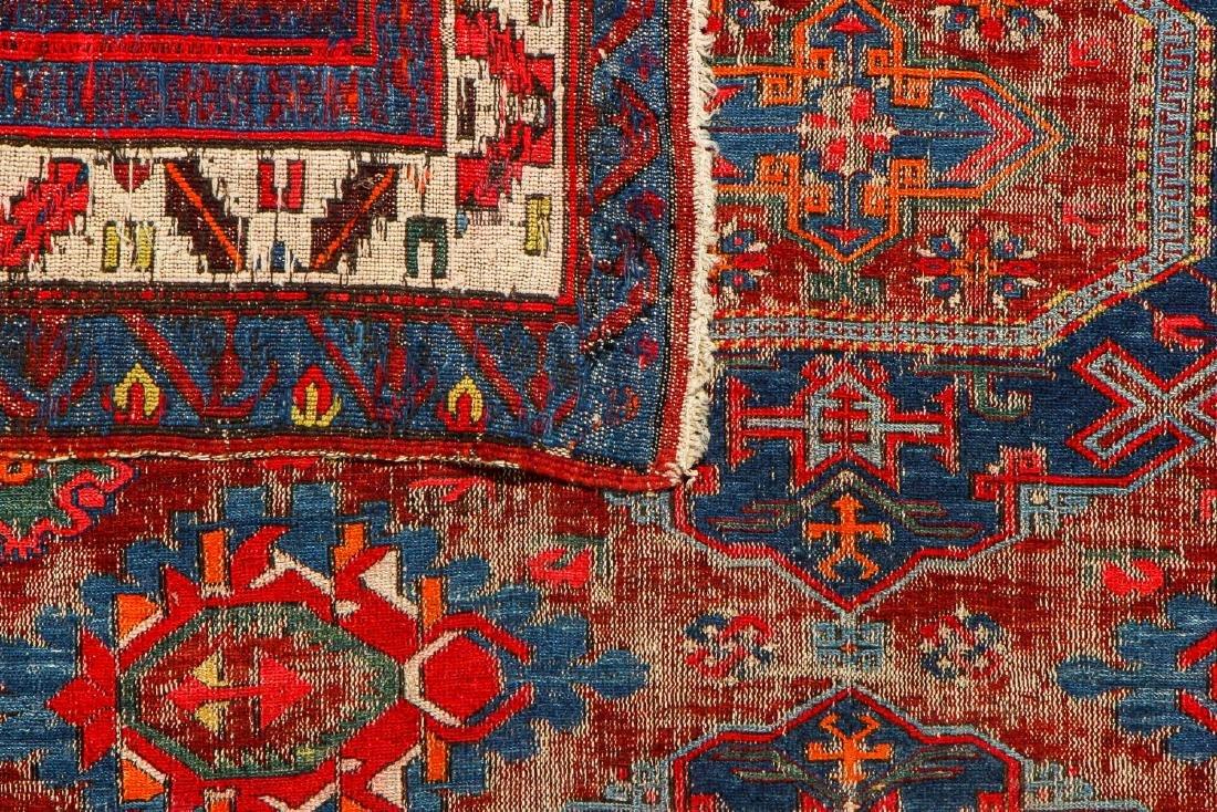 Antique Sumak Rug, Caucasus: 5'3'' x 6'8'' - 6